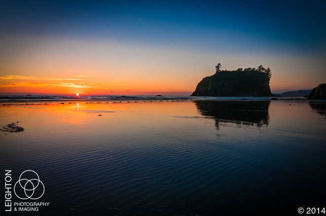 Ruby Beach at Last Light