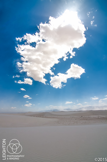 Sky and Sand - White Sands, New Mexico
